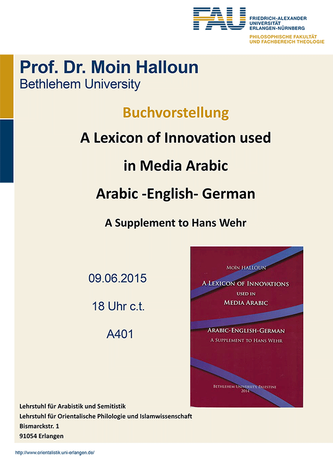"Zum Artikel ""A Lexicon of Innovation used in Media Arabic"""