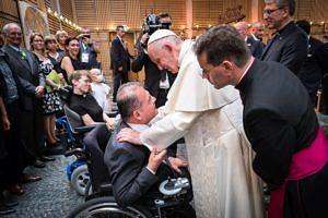 Begegnung von Prof. Dr. Georges Tamer mit Papst Franziskus