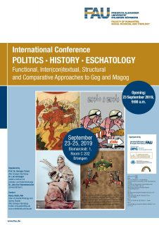 "Zum Artikel ""International Conference Politics History Eschatology Functional, Inter(con)textual, Structural an Comparativ Approaches to Gog and Magog, 23.-25. September 2019"""